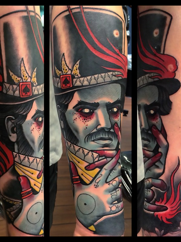 Full color tattoo by Bartosz Panas done at Caffeine Tattoo Studio Warsaw