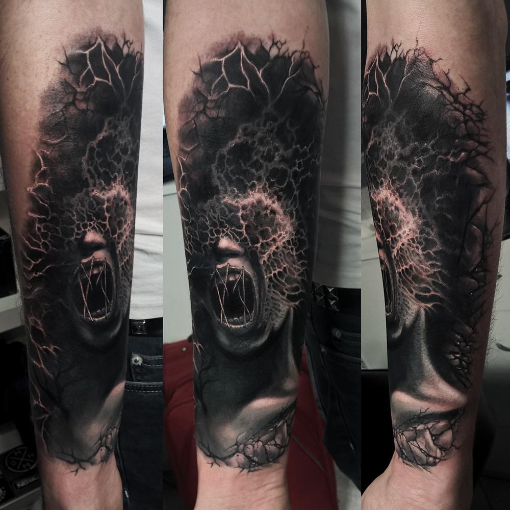 Caffeine Tattoo Baks Horror Style Tatuaz W Caffeine Tattoo