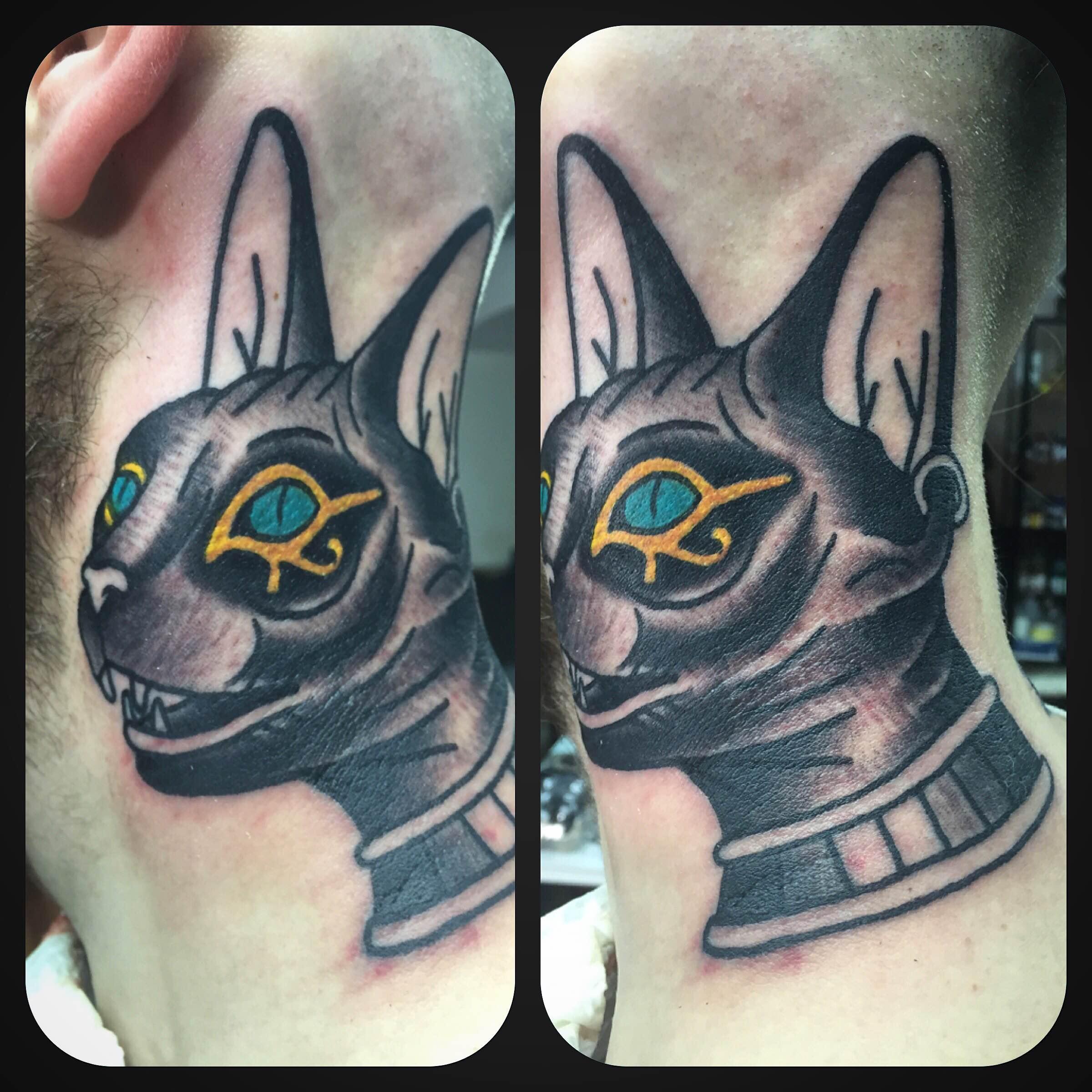 Caffeine Tattoo Kot Klasyczny W Kolorze By Michal Wu W Studio