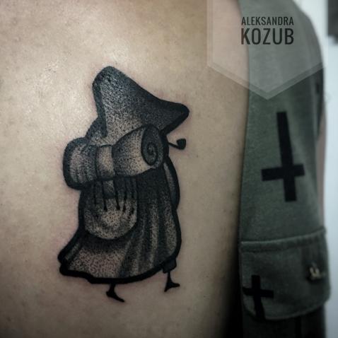 Caffeine Tattoo Tatuaż Postaci Z Bajki Przedstawiający